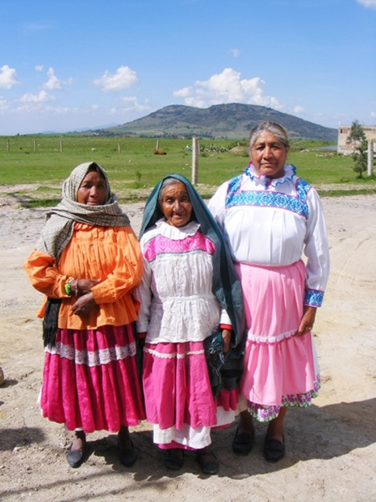 Three Otomi women